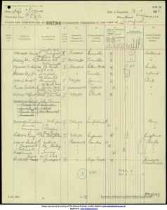 Passenger List RMS Oropesa 19 April 1928