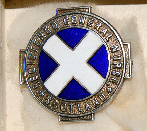 Badge Registered General Nurse Scotland
