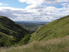 Alva Glen looking towards the Forth valley